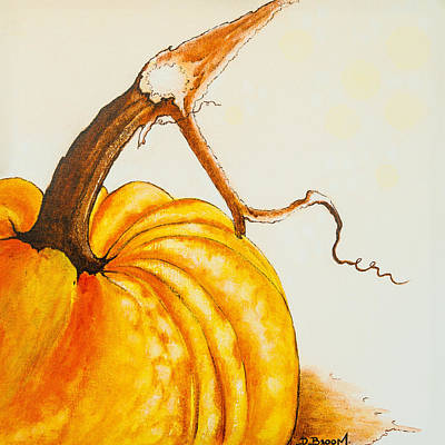 Pumpkin Poster by Dawn Broom