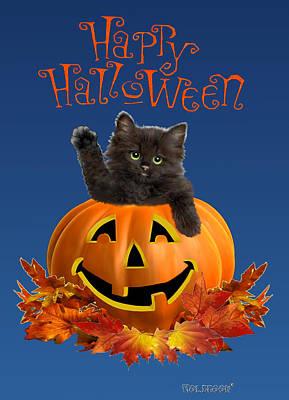 Pumpkin Kitty Poster by Glenn Holbrook