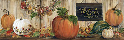 Pumpkin Panel Poster by Marilyn Dunlap
