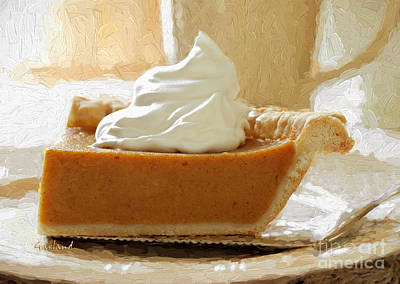 Pumpkin Pie With Whipped Cream Poster