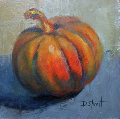 Pumpkin Pretty Poster by Donna Shortt