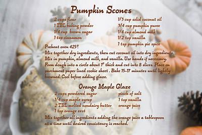 Pumpkin Scones Recipe Poster