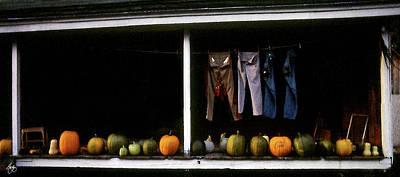 Pumpkins And A Washline Poster