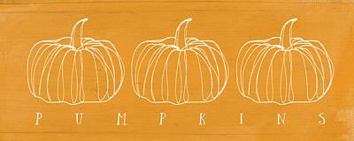 Pumpkins- Art By Linda Woods Poster by Linda Woods