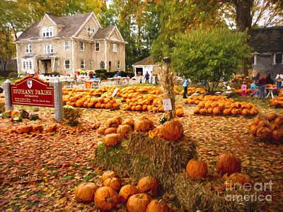 Pumpkins For Sale Poster by Garland Johnson