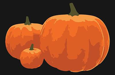 Poster featuring the painting Pumpkins by Jennifer Hotai