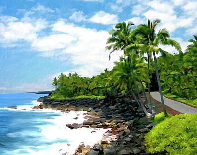 Puna Coast Big Island Hawaii Poster