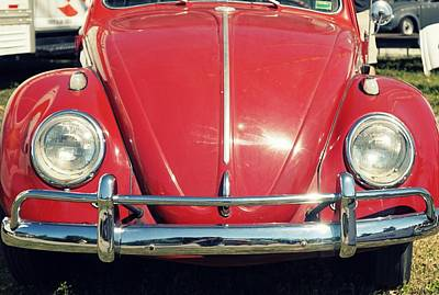 Punch Buggy Red Poster by Laurie Perry
