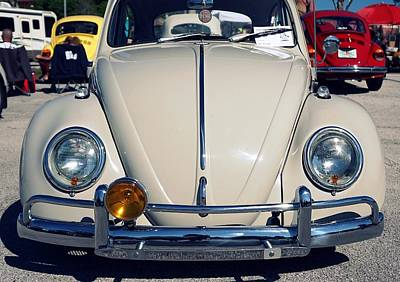 Punch Buggy White Poster by Laurie Perry