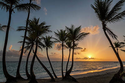 Poster featuring the photograph Punta Cana Sunrise by Adam Romanowicz