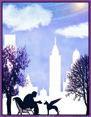 Pupasus In New York City Poster