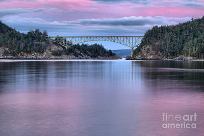 Purple Skies Over Deception Pass Poster