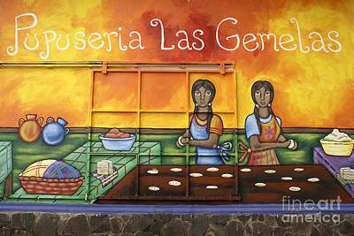Pupusa Twins El Salvador Poster