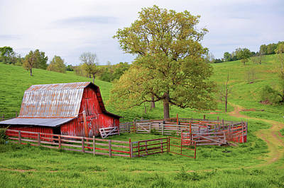 Poster featuring the photograph Pure Arkansas - Red Barn by Gregory Ballos