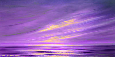 Purple Abstract Sunset Poster
