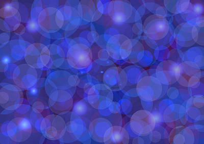 Purple And Blue Abstract Poster