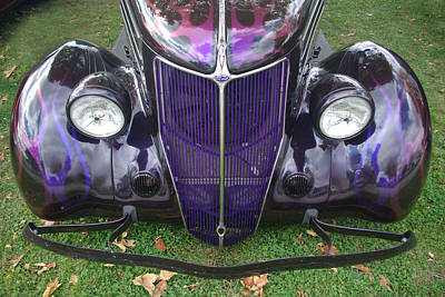 Purple Antique Ford Poster