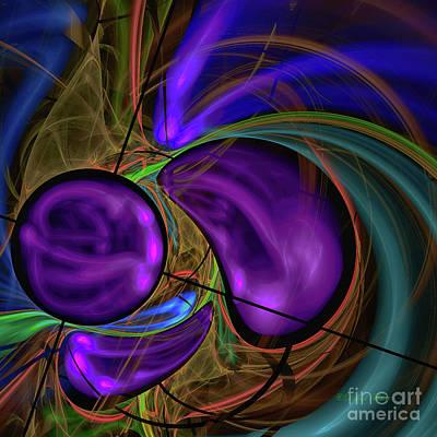 Poster featuring the digital art Purple Anyone by Deborah Benoit