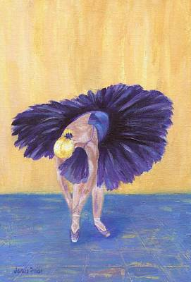 Poster featuring the painting Purple Ballerina by Jamie Frier