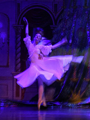 Purple Ballet Dancer Poster