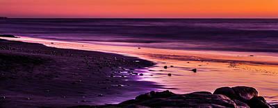Purple Beach Poster