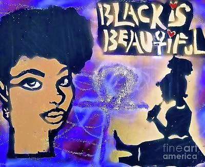Purple Black Girl Poster