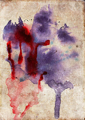 Purple Color Splash Poster