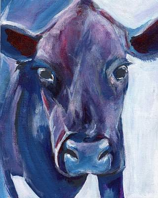 Purple Cow Poster by Anne Seay