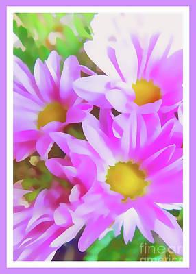Purple Daisy Poster Poster by Susan Lafleur