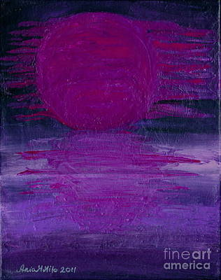 Poster featuring the painting Purple Dawn by Ania M Milo