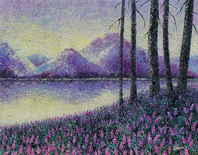 Poster featuring the painting Purple Daze by Susan DeLain