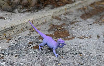 Purple Dinosaur - Sharon Cummings Poster
