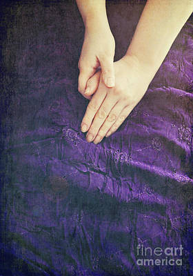 Purple Dress Poster by Lyn Randle