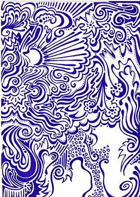 Purple Elements Poster