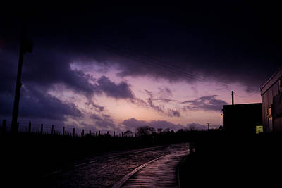 Purple Evening Poster