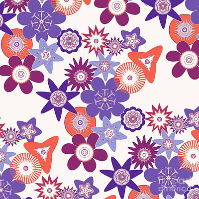 Purple Flower Fantasy Poster by Methune Hively