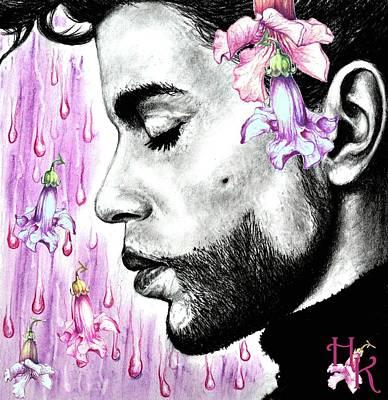 Purple Flower Rain  Prince, Roger Nelson Poster by Heidi Kriel