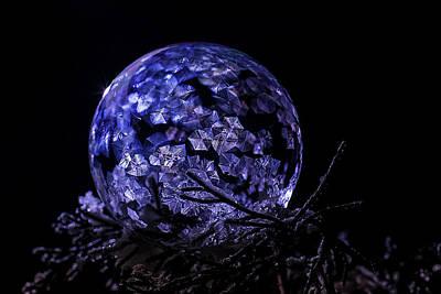 Purple Frozen Bubble Art Poster