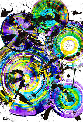 Purple Haze Spheres And Circles 1509.021413 Poster by Kris Haas