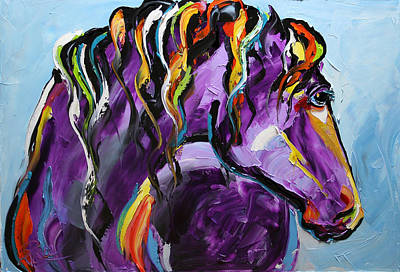 Purple Horse Poster