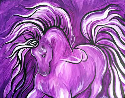 Purple Horse Poster by Leni Tarleton