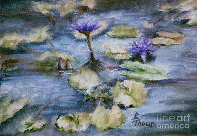 Poster featuring the painting Purple Lily by Brenda Thour