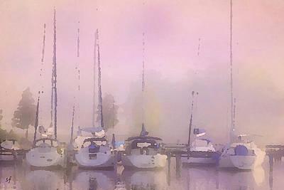 Purple Marina Morning Poster