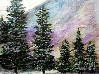 Purple Mountain Majesty Poster by Scott D Van Osdol
