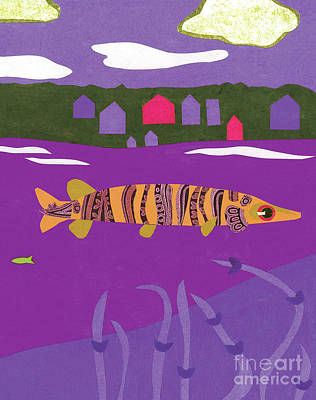 Purple Musky Poster by Laura Lynne