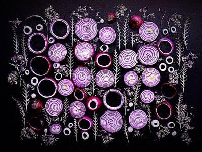 Purple Onion Patterns Poster