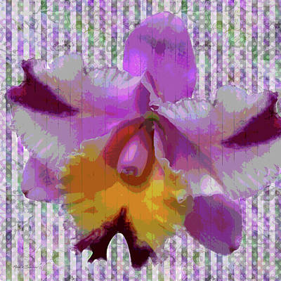 Purple Orchid Design Poster