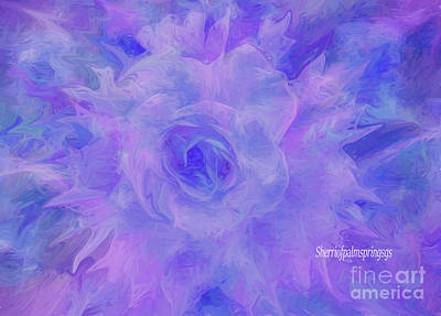 Purple Passion By Sherriofpalmspringsflower Art-digital Painting  Photography Enhancements Tradition Poster by Sherri's Of Palm Springs