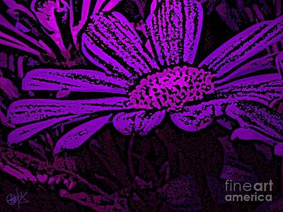 Purple Petals Poster by Roxy Riou