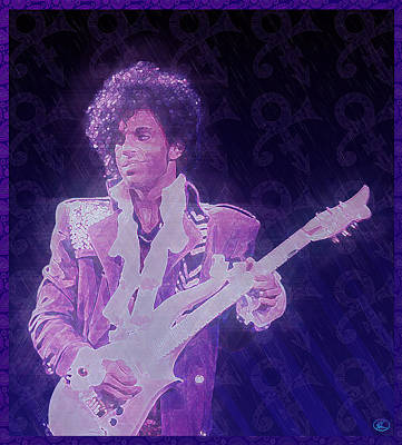 Purple Reign Poster by Kenneth Armand Johnson